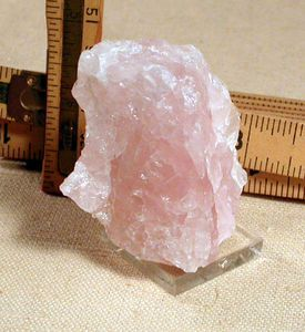 SOLD:  Pretty Pink Rose Quartz Miniature, South Dakota