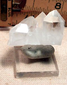Rare Shield Faced Crystals, Arkansas Miniature Quartz Cluster