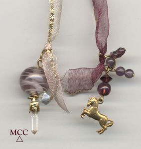 ILLUMINATORtm -Sexy Lingerie Ribbon Rock Crystal Pendulum/Bookmark