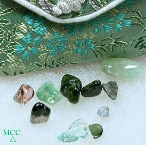 SOLD: 10 Cut, Tumbled Tourmalines Totalling 8 Grams - 40 Carats - MultiColored