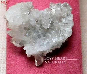 SOLD:  NATURAL ROCK CRYSTAL HEART - Of RARE Blue Phantom Quartz Crystals