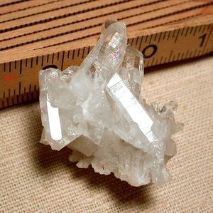 SOLD: Rainbow Arkansas Rock Crystal Cluster, Miniature Sized- Giant Energy