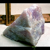 SOLD:  RARE NATURAL LAVENDER ROSE QUARTZ TRIANGLE - California Rough
