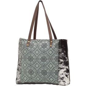 Myra Bag - Canvas/Cow Floral Tote