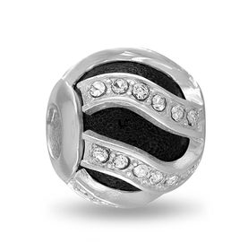 Davinci Beads Black Swirl CZ Decorative