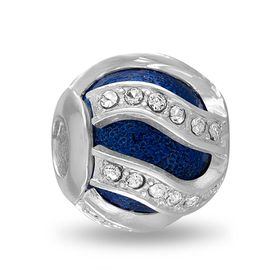 Davinci Beads Blue Swirl CZ Decorative