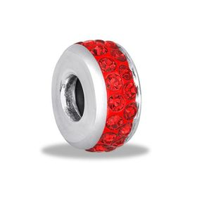 Davinci Beads Red CZ Stopper