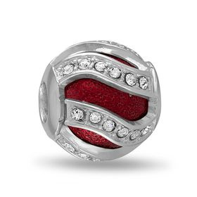 Davinci Beads Red Swirl CZ Decorative
