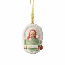 Growing up Girl Blonde Age 0 New Baby Ornament
