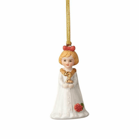 Growing up Girl Blonde Age 02 Ornament