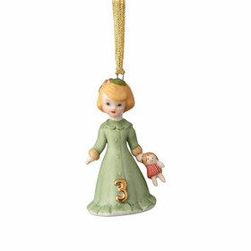 Growing up Girl Blonde Age 03 Ornament