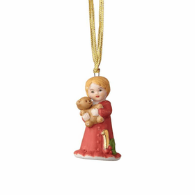 Growing up Girl Blonde Age 01 Ornament