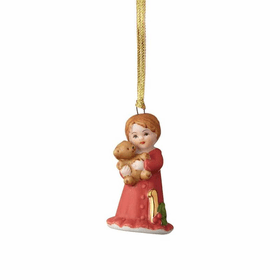 Growing up Girl Brunette Age 01 Ornament
