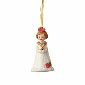 Growing up Girl Brunette Age 02 Ornament