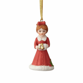 Growing up Girl Brunette Age 04 Ornament