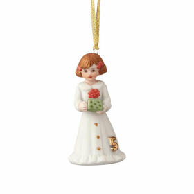 Growing up Girl Brunette Age 05 Ornament