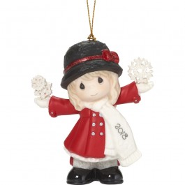 """""""Have A Magical Holiday Season"""" Dated 2018, Bisque Porcelain Ornament"""