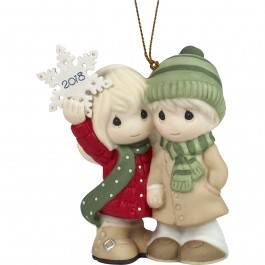 """Our First Christmas Together 2018"" Bisque Porcelain Ornament"