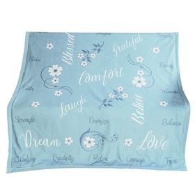 Outrageously Soft Sentiments Comfort Blanket - Blue