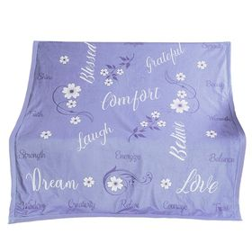 Outrageously Soft Sentiments Comfort Blanket - Lavender