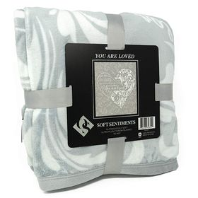 Outrageously Soft You Are Loved Blanket - Soft Gray