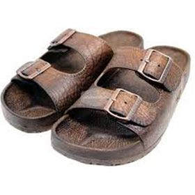 Pali Hawaiian Buckle Brown Sandals Size 8