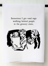 Road Rage Grocery Store Towel