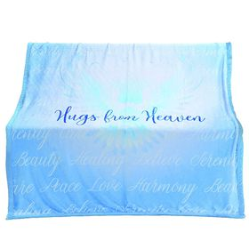 Soft Sentiments Hugs From Heaven Blanket - Blue
