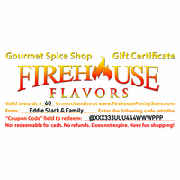 $60 Firehouse Flavors Gift Certificate