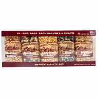 Amish Country Popcorn, 10 Count Variety Pack of Popcorn Kernels, 4 oz. ea.