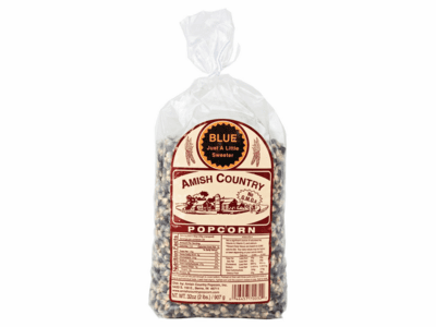 Amish Country Popcorn, Blue, 2 Pound Bag