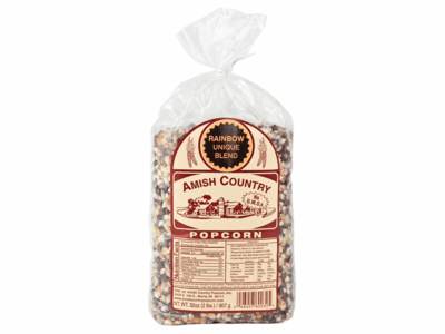 Amish Country Popcorn, Rainbow, 2 Pound Bag
