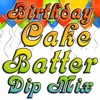 Birthday Cake Batter Dip & Spread Mix, Single Recipe Package