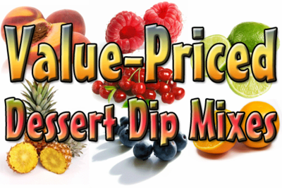 Value Blueberries 'N Cream Dessert Dip & Spread Mix, 15 Pound Bulk Bag