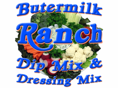 Buttermilk Ranch Dip & Dressing Mix, No MSG Added, 5 Pound Bulk Bag
