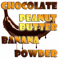 Chocolate Peanut Butter Banana Flavored Powder
