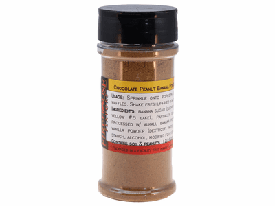 Chocolate Peanut Butter Banana Flavored Powder in a Large Spice Jar (4.41 oz.)