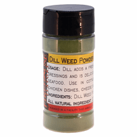 Dill Weed Powder in a Spice Jar  (1.76 oz.)