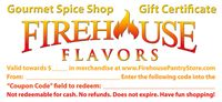 Firehouse Flavors Gift Certificates