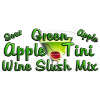 Green Appletini Wine Slush Mix, Case of 24 Packages