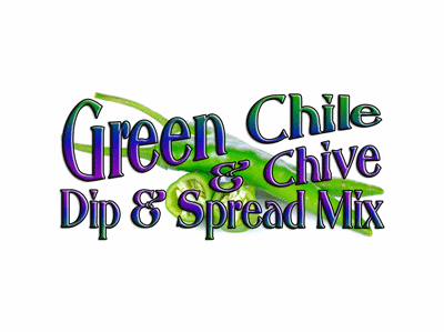 Green Chile 'N Chive Dip & Spread Mix, Case of 24 Packets