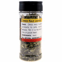 Kale Flakes, Dried, in a Large Spice Jar (1.94 oz.)