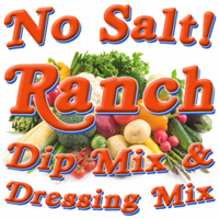 No Salt! Buttermilk Ranch Dip & Dressing Mix, Case of 24 Packets