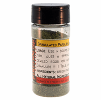 Parsley Leaves, Dried, Granulated, in a Spice Jar (0.71 oz.)