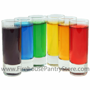 Rainbow Gelatin Mix Sampler Pack - 6 Flavors - 1 Pound Pantry Bags of Each