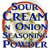 Sour Cream & Onion Seasoning Powder, 25 Pound Bulk Case