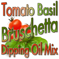 Tomato Basil Bruschetta Dipping Oil Mix, Case of 24 Packets