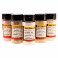 Vinegar Powder Sampler - 5 Varieties - 4 oz. Spice Jar of Each