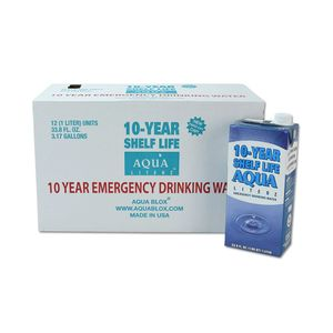 Case of 10-Year Shelf Life Aqua Literz