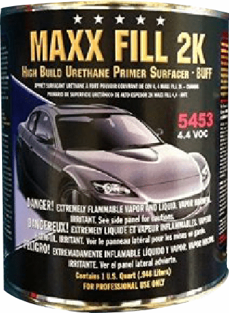 5 Star 5453 Max 2K High build Urethane primer Buff Quart